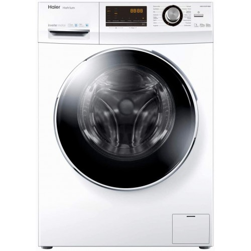 Haier Auto Washing Machine/Front load/10kg-6Kg/White - (HWD100BP-14636)