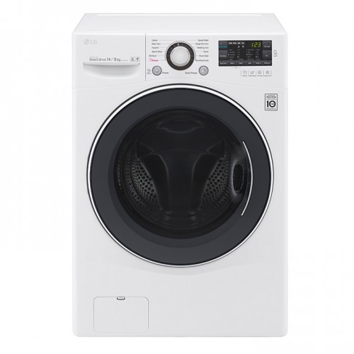 LG Auto Washing Machine/Front Load/14Kg/White - (WC1408WH)