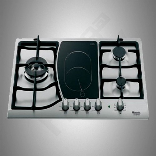 Ariston Gas+Electric Builtin Hob/3 Burners+1 Hotplate - (PH741RQOGH)