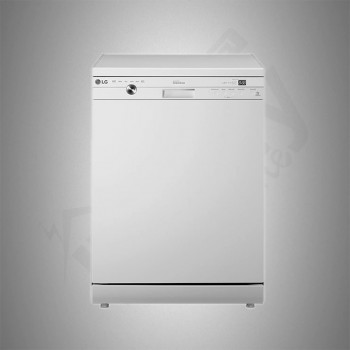 LG Dish Washer/14 Places/6 Programs/White - (D1447WF)