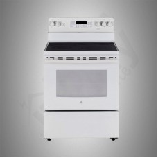 G.E. Electric Cooker/Ceramic/5 Hotplate/White - (JCB835DIWW)