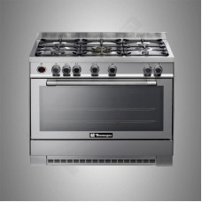 Tecnogas Gas Cooker/5Burner/90X60/FS/Steel - (N1SS)