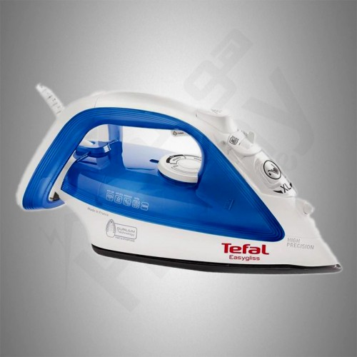 Tefal Easygliss Steam Iron/Durilium/Anti Calc/270ml/2200W/Blue - (FV4010M)