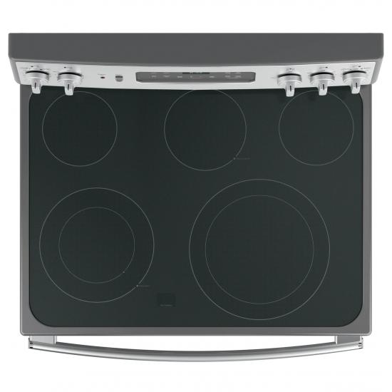 G.E. Electric Cooker/Ceramic/5 Hotplate/Steel - (JCB835SISS)