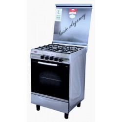 Basic Gas Cooker/4Burner/55X55/Full Safety/Steel - (B4404S)