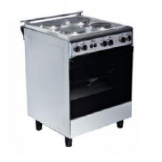 Basic Electric Cooker/4Hot Plates/60X60/Steel - (B6640)