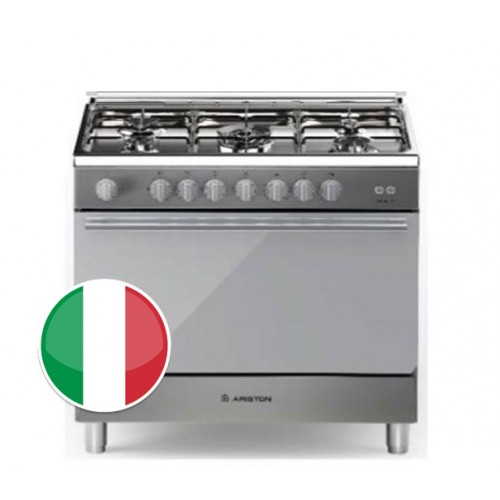 Ariston Gas Cooker/5Burner/60X90/FS/Steel - (BAM951EGSS)