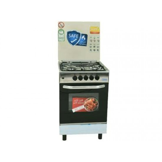 Crony Gas Cooker/4Burner/55X55/Full Safety/Steel - (CRONY55)