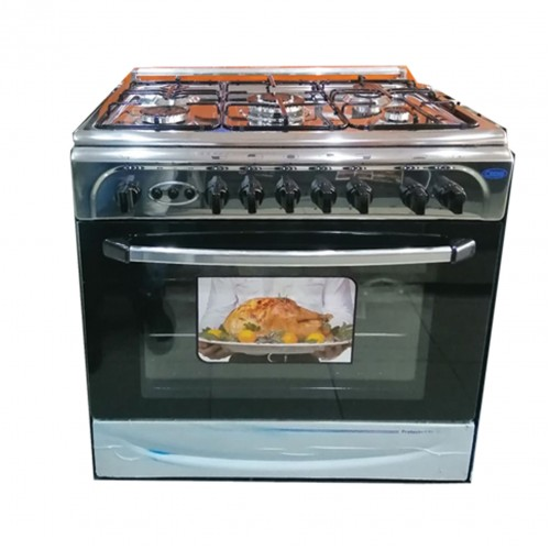 Falcon Gas Cooker/5Burner/80X55/Full Safety/Steel - (FGC8055SF)