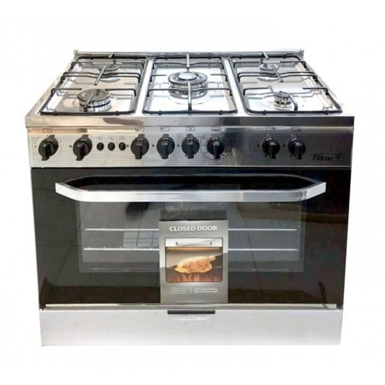 Falcon Gas Cooker/5Burner/90X60/Full Safety/Steel - (FGC9060SF)