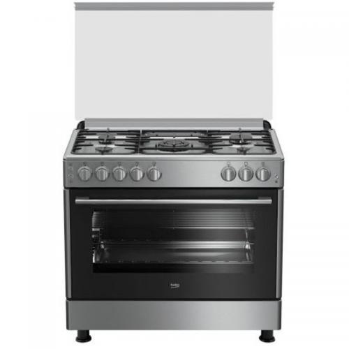 Beko Gas Cooker/5Burner/60X90/FS/Steel - (GG15120FX)