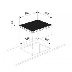 GlemGas Builtin Electric Hob/60cm/Ceramic/4 Hotplate - (GTH64KIX)