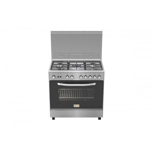 Homy Gas Cooker/5Burner/50X80/FS/Steel - (HOM85C31X)
