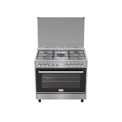 Homy Gas Cooker/5Burner/90X60/FS/Steel - (HOM95C31X)