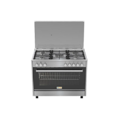 Homy Gas Cooker/5 Gas Burner + Full Elec. Oven/60X90/FS/Steel/Italy - (HOMPRO96X)