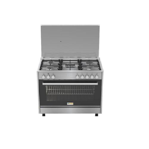 Homy Gas Cooker/5Burner/60X90/FS/Steel/Italy - (HOMPRO96X)