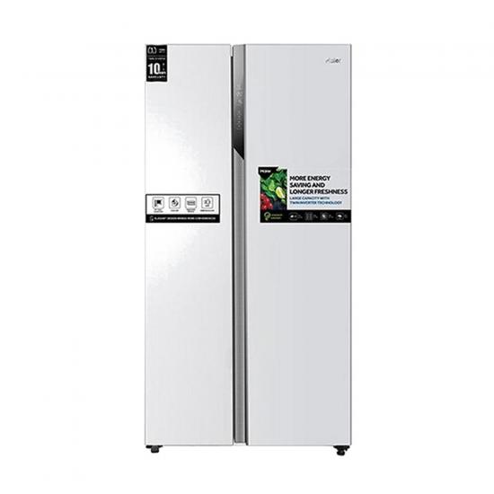 Haier Refrigerator / 17.80 cu/ft. / Side by Side - 2Door / White - (HRF650WW)