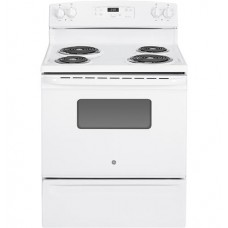G.E. Electric Cooker/Coil/4 Hotplate/White - (JBS27DIWW)