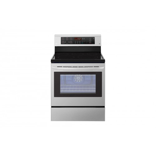 LG Electric Cooker/Ceramic/5 Hotplate/Steel - (LRE3193ST)