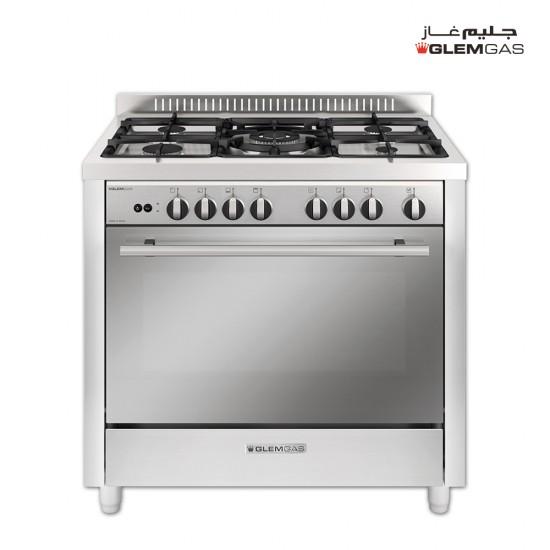 GlemGas Gas Cooker/5Burner/100X60/FS/Fan/Steel - (MX167GIFSMF)