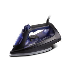 Panasonic Steam Iron/Ceramic/Self Clean/Anti Calc/300ml/2400W/Black - (NI-U550CATB)