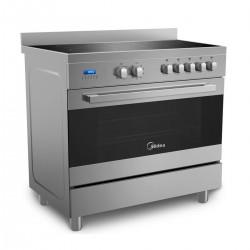 Midea Electric Cooker/90x60/Ceramic/Dual Fan/5 Hotplate/steel - (VSVC96048)